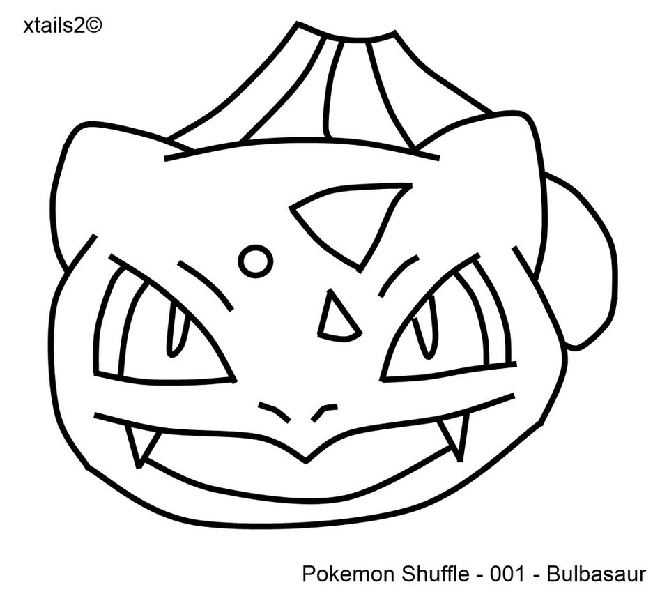 937x852 Pokemon Shuffle Bulbasaur Outline By Xtails2