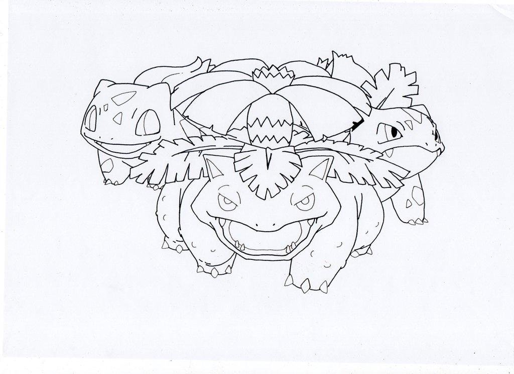 1024x744 Bulbasaur Evolution~ 1,2,3 By Luckyworld2510