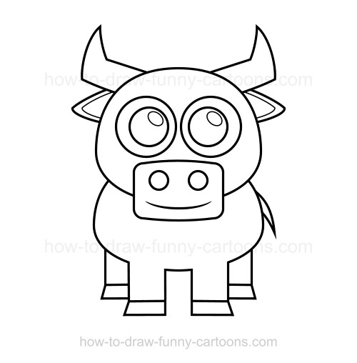 500x508 To Draw A Bull