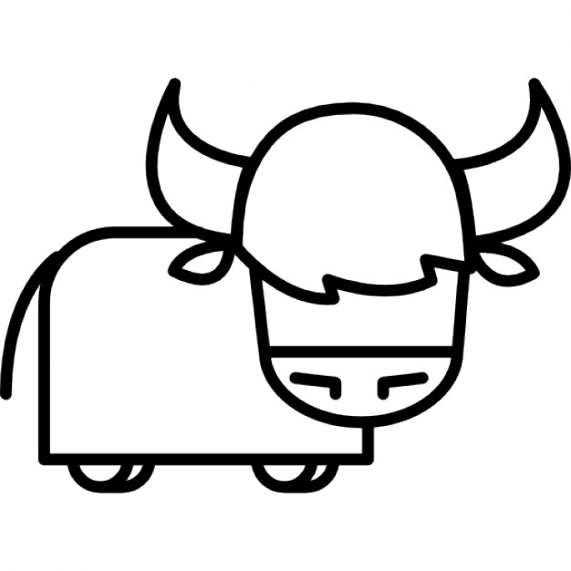 626x626 Bull Cartoon Variant Icons Free Download