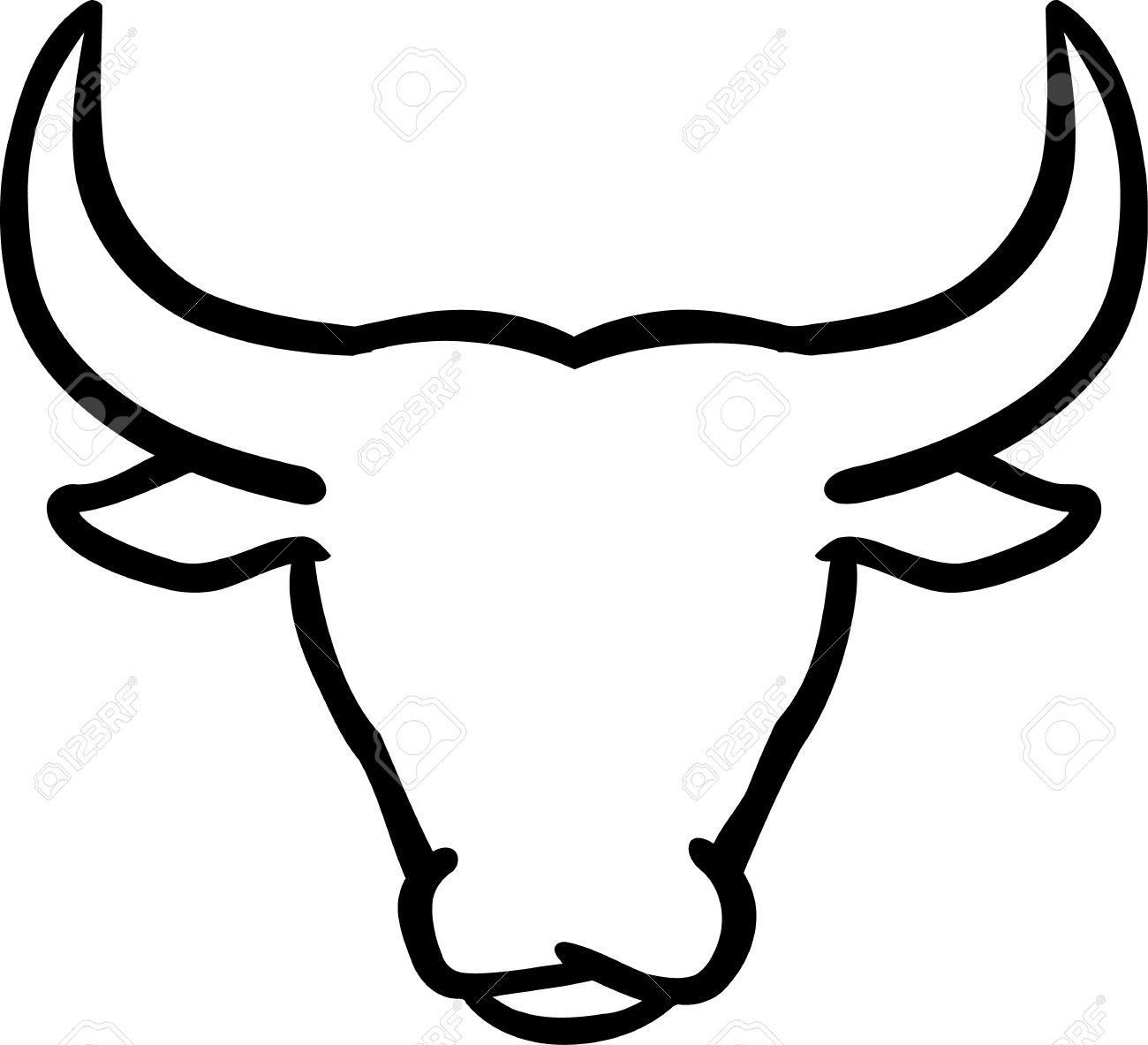 1300x1183 Bulls Clipart Outline