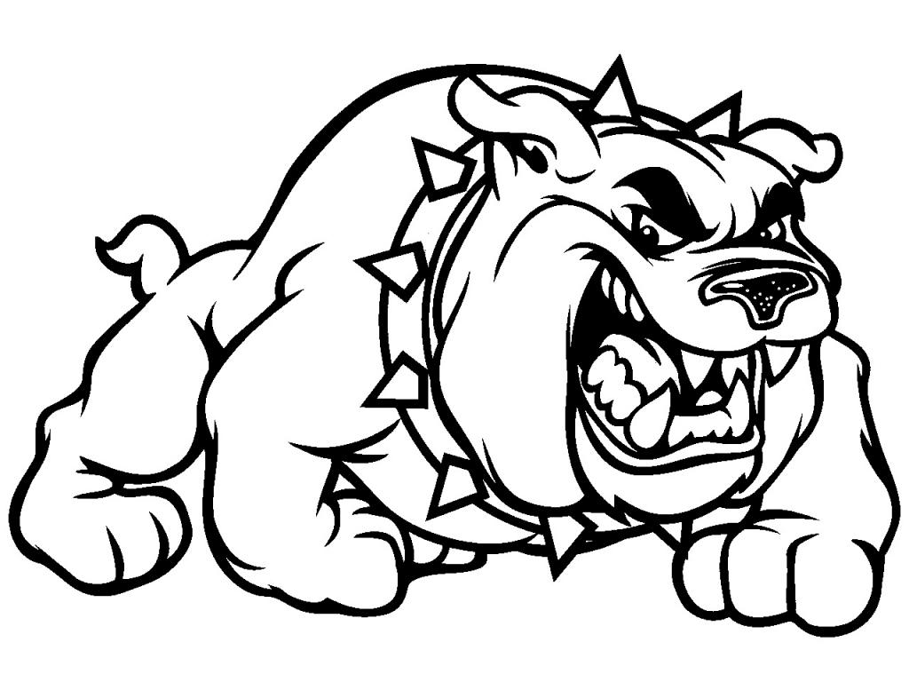 1024x768 Drawing Of A Bulldog