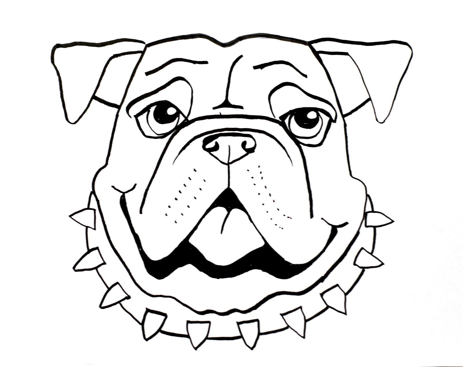 1600x1267 Drawing Of A Bulldog Smart Class Bull Dog Draw A Long