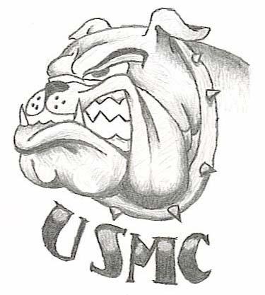 375x417 Usmc Bulldog By Skullkingt