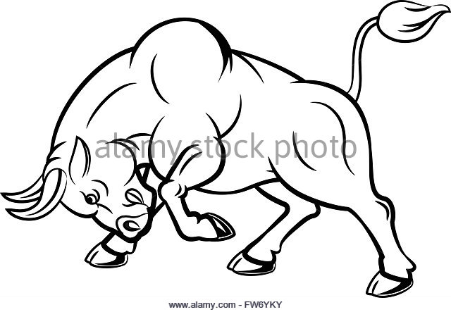 640x443 Cartoon Angry Bull Attacking Isolated Stock Photos Amp Cartoon Angry