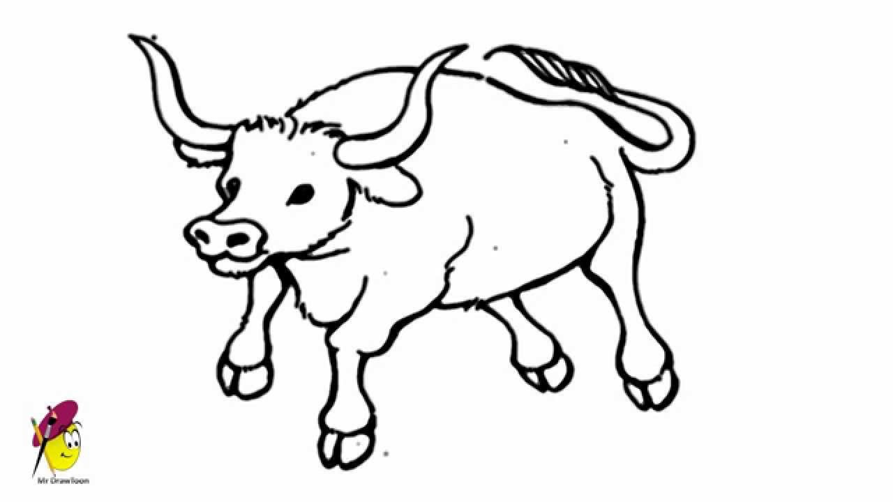 1280x720 Drawings Of Bulls Bull