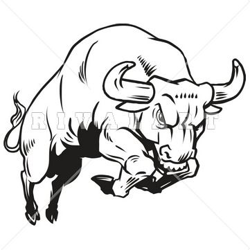 361x361 Best Of Black And White Images To Draw Charging Bull Drawing