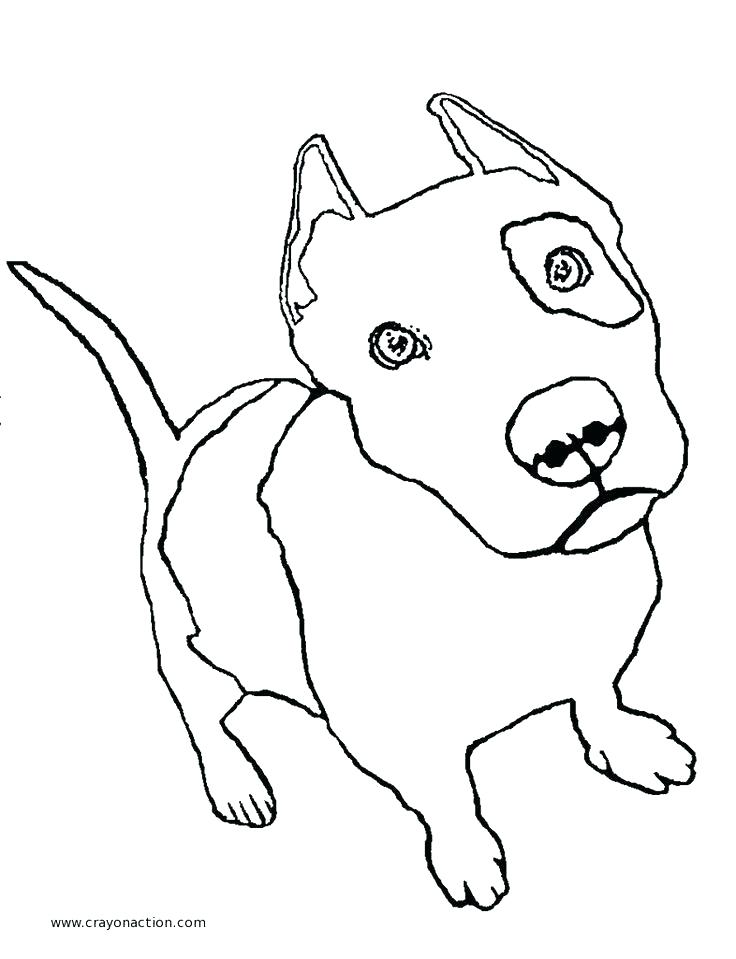736x959 Good Doggie Coloring Pages Kids Drawn Pit Bull Black And White