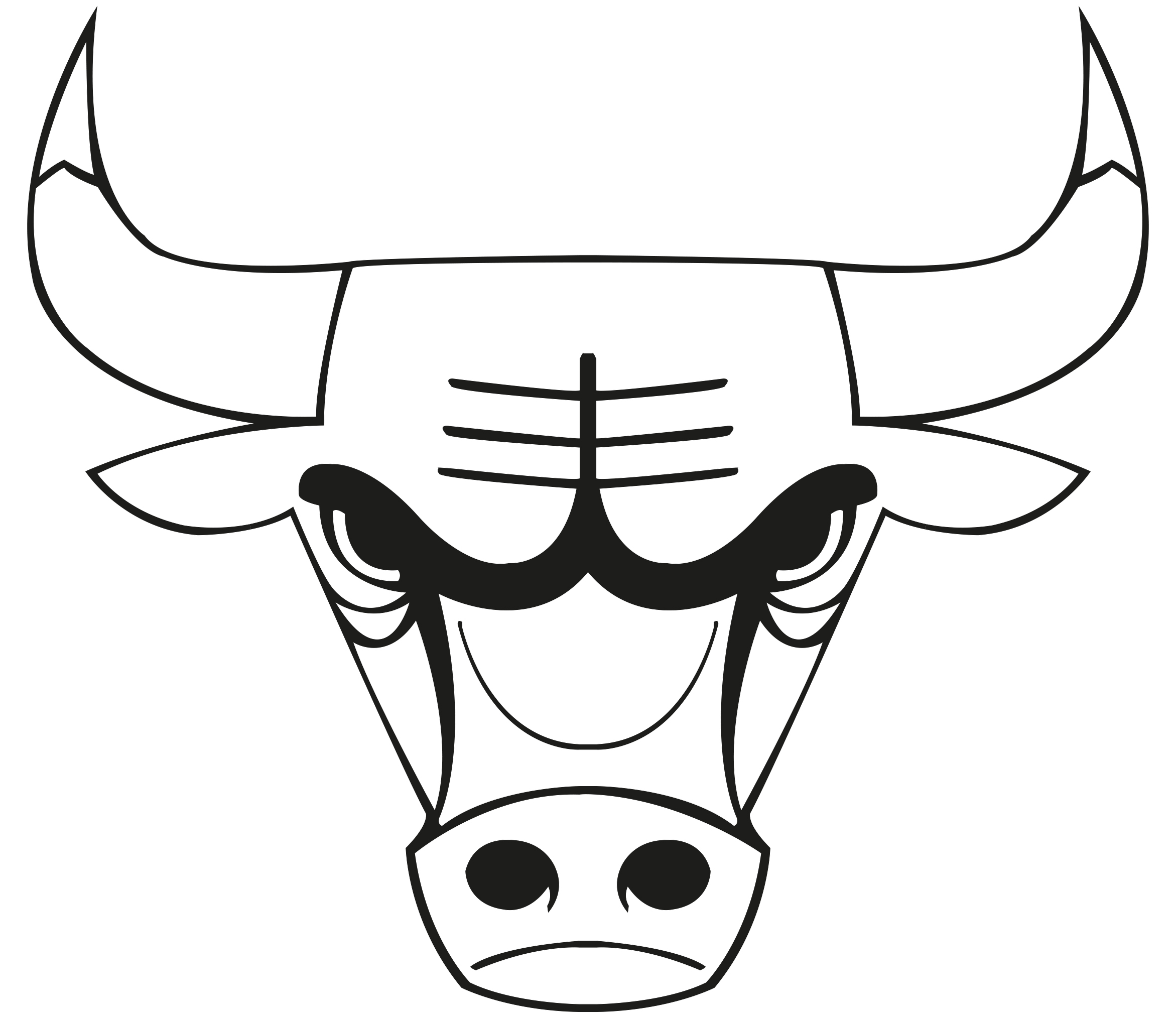 2343x2026 Images Of The Chicago Bulls Logo Chicago Bulls Colouring Pages