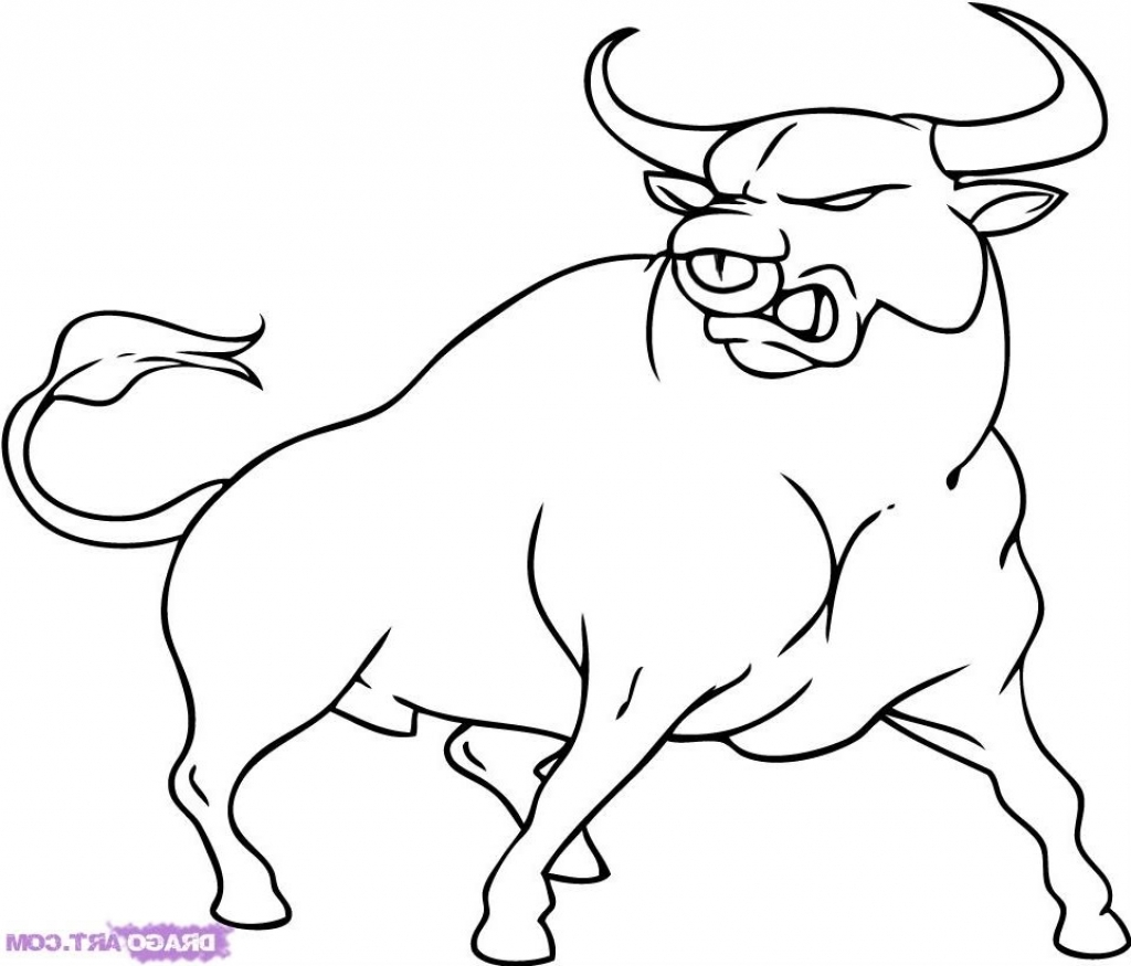1024x875 How To Draw A Bull Cartoon Drawings Of Bulls Related Keywords Amp