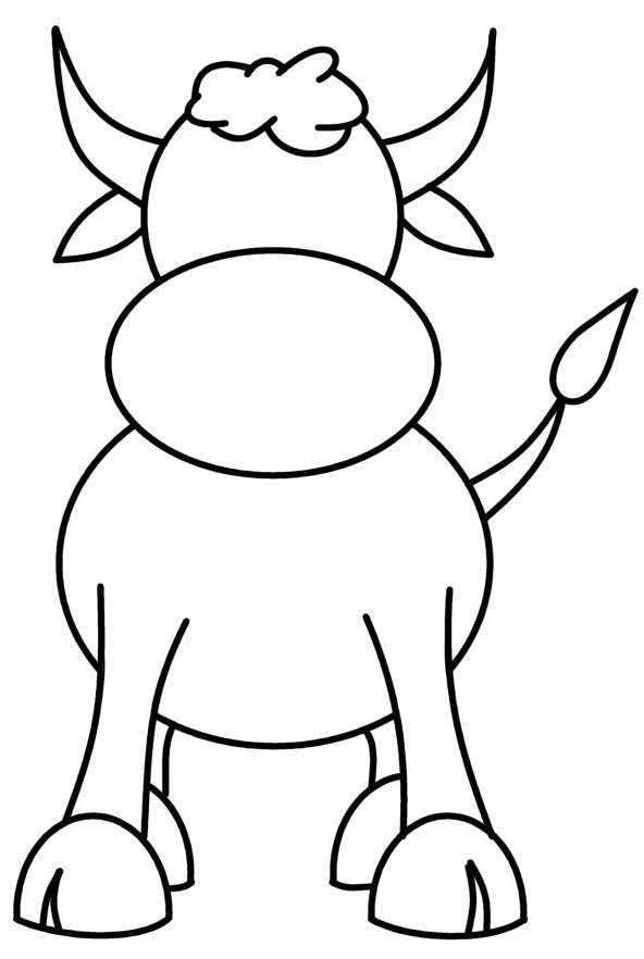 592x882 How To Draw Cartoons Cow