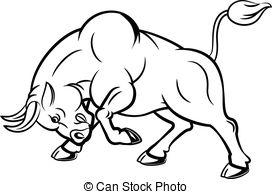 272x194 Running Fighting Bull Stock Illustrations. 33 Running Fighting