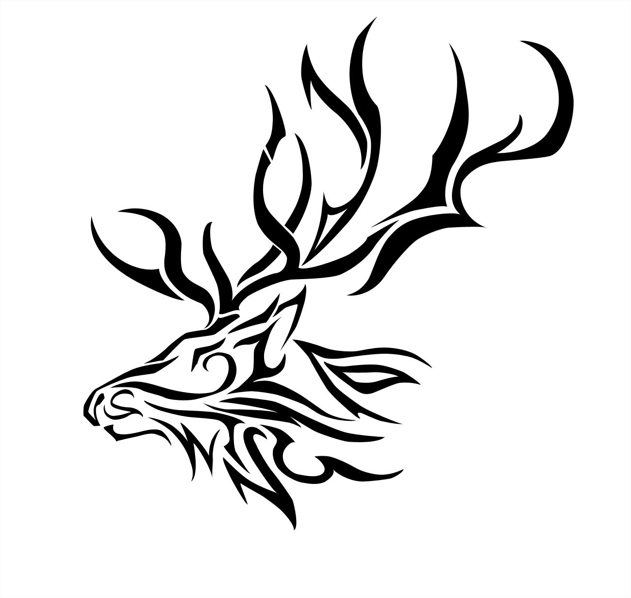 Elk Black And White Clipart