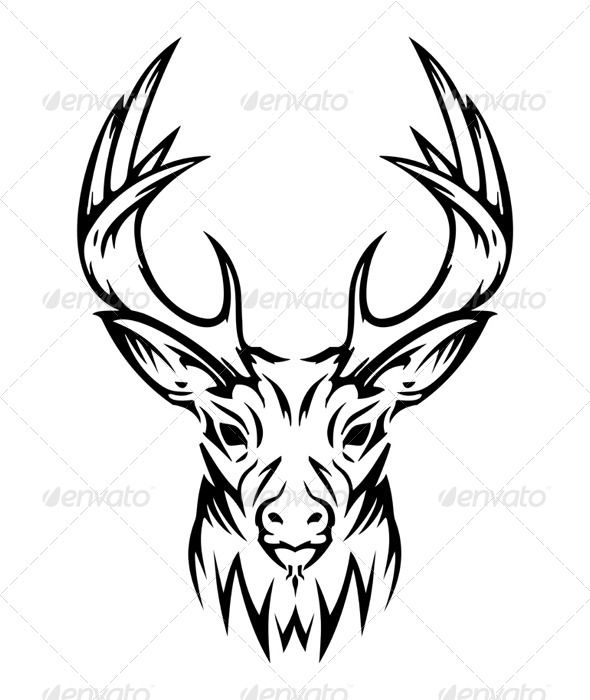 590x700 Tribal Elk Head Drawings 1000 Images About Art On Tribal