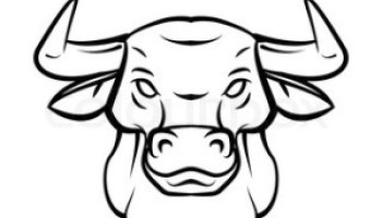 350x200 Pictures Easy Sketch To Bull Face,