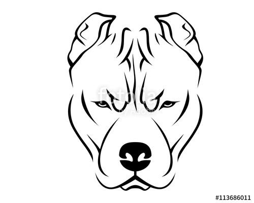 500x400 Dog Breed Line Art Logo