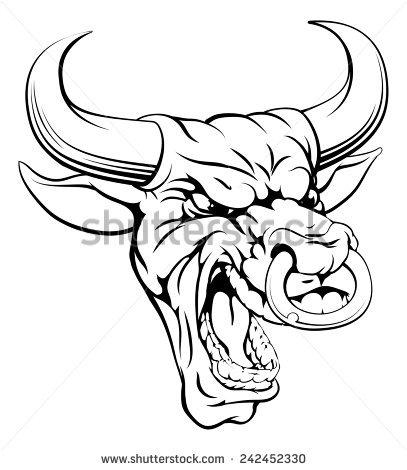 407x470 Drawn Bulls Mean