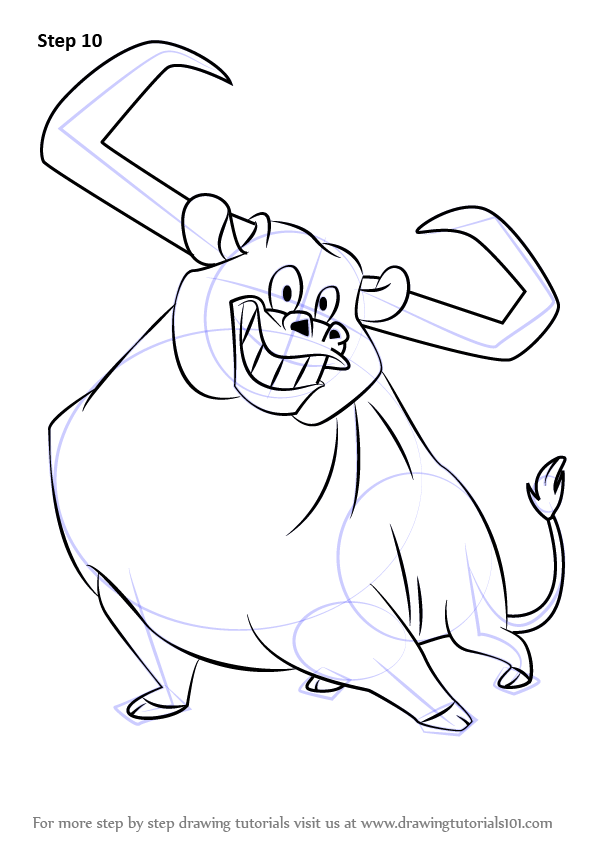 596x842 Learn How To Draw Toro The Bull From Looney Tunes (Looney Tunes