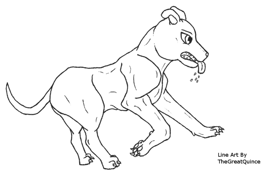900x565 Running Pit Bull Line Art By Thegreatquince