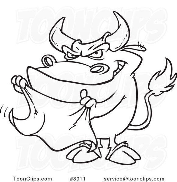 581x600 Cartoon Black And White Line Drawing Of A Bull Waving A Cape