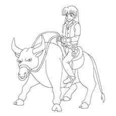 Bull Rider Drawing