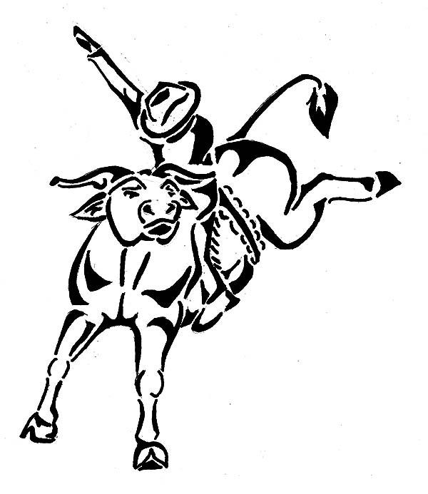 bull rider drawing at getdrawings com free for personal use bull