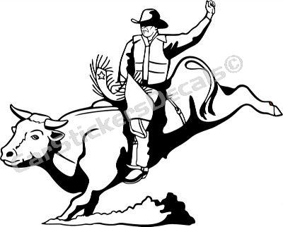Bull Rider Drawing at GetDrawings.com | Free for personal ...