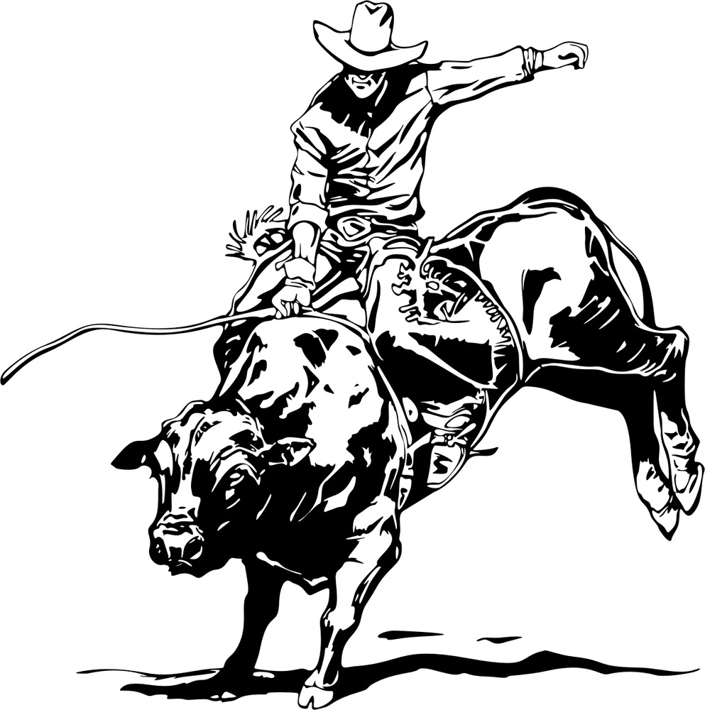 993x1000 Bull Riding Decal Wra