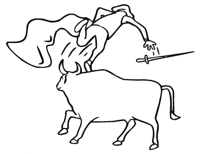863x647 Bucking Bull Coloring Pages Images View Larger Bulldog For Adults