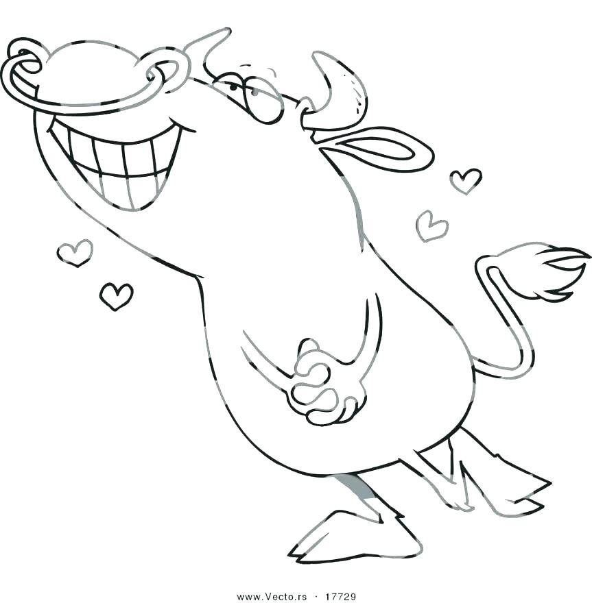 863x880 Bull Coloring Page