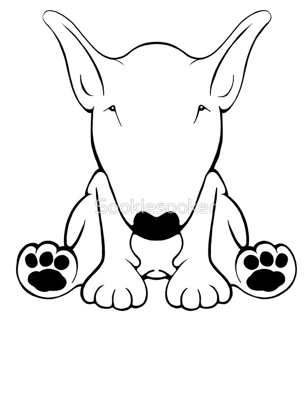 600x800 English Bull Terrier Forward Sit 2 Stickers By Sookiesooker