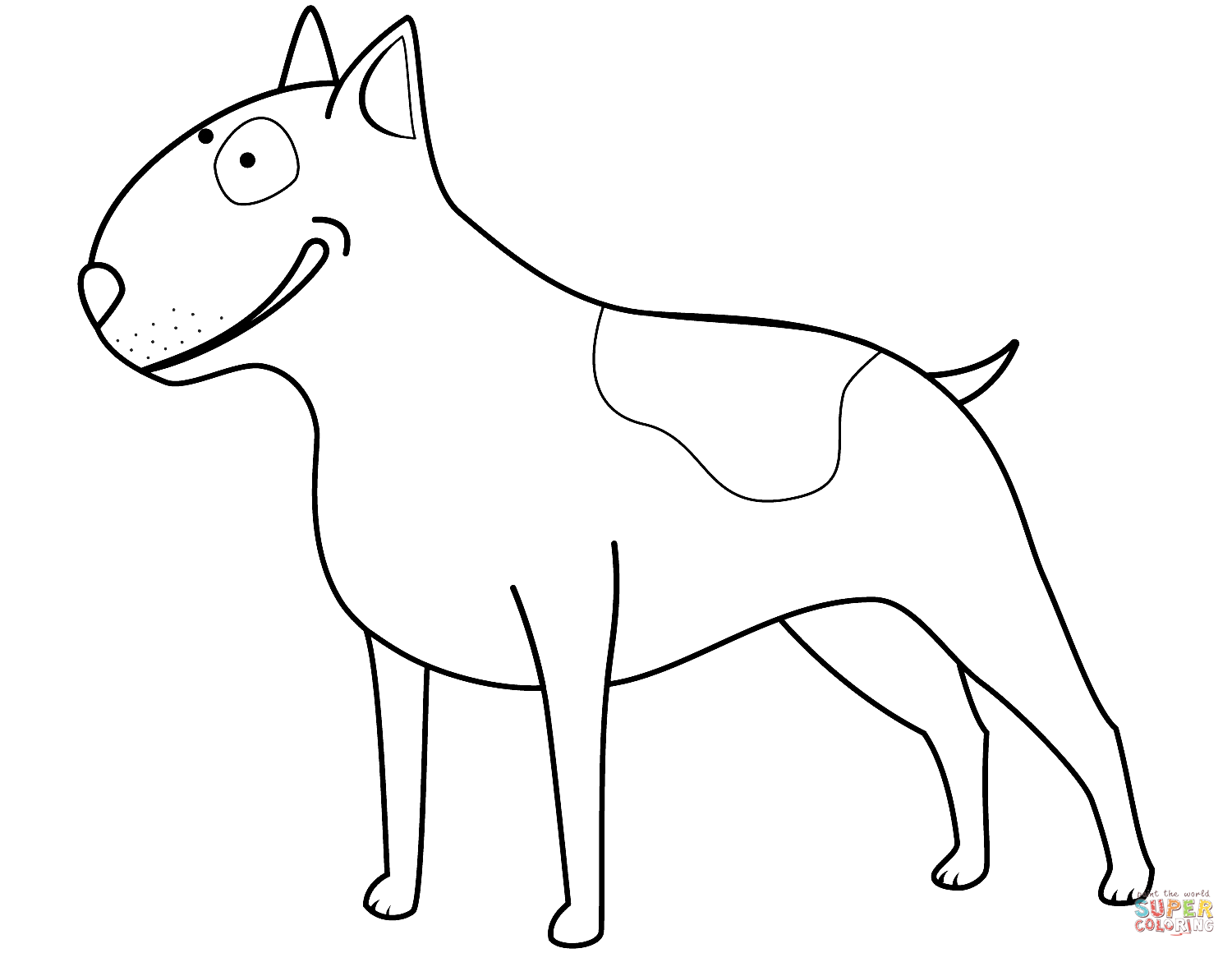 1500x1160 Funny Bull Terrier Coloring Page Free Printable Coloring Pages