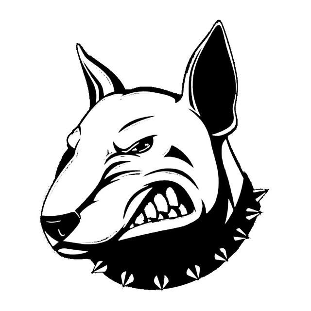 640x640 Angry Bull Terrier Dog Car Decal I Love Cat Socks