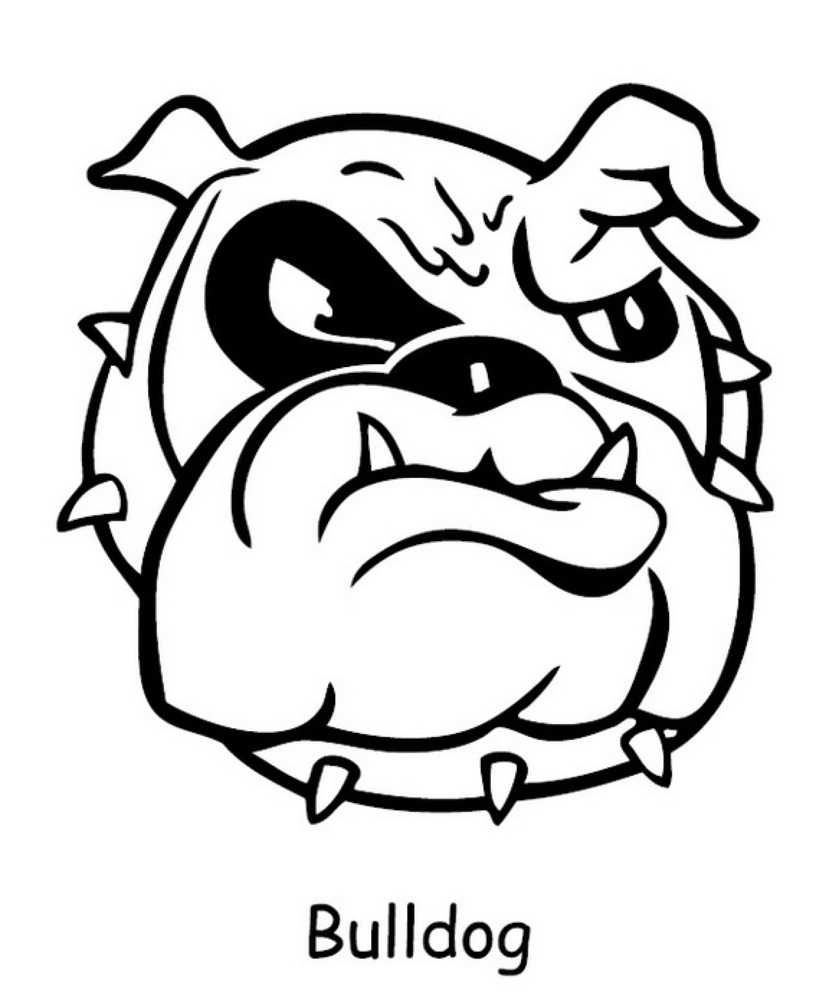 1632x2000 Cute Bulldog Cartoon Drawing Sketch Coloring Page Sketch Coloring