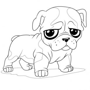 308x308 Drawings Of Bulldog Coloring Pages