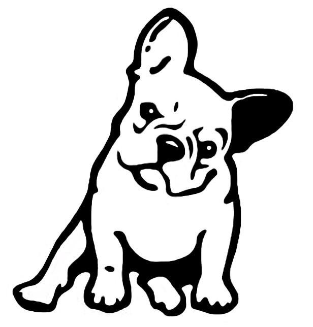 616x644 French Bulldog Dog Vinyl Car Sticker Luvvadog