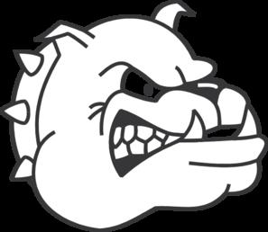 297x258 Angry Bulldog Outline Clip Art
