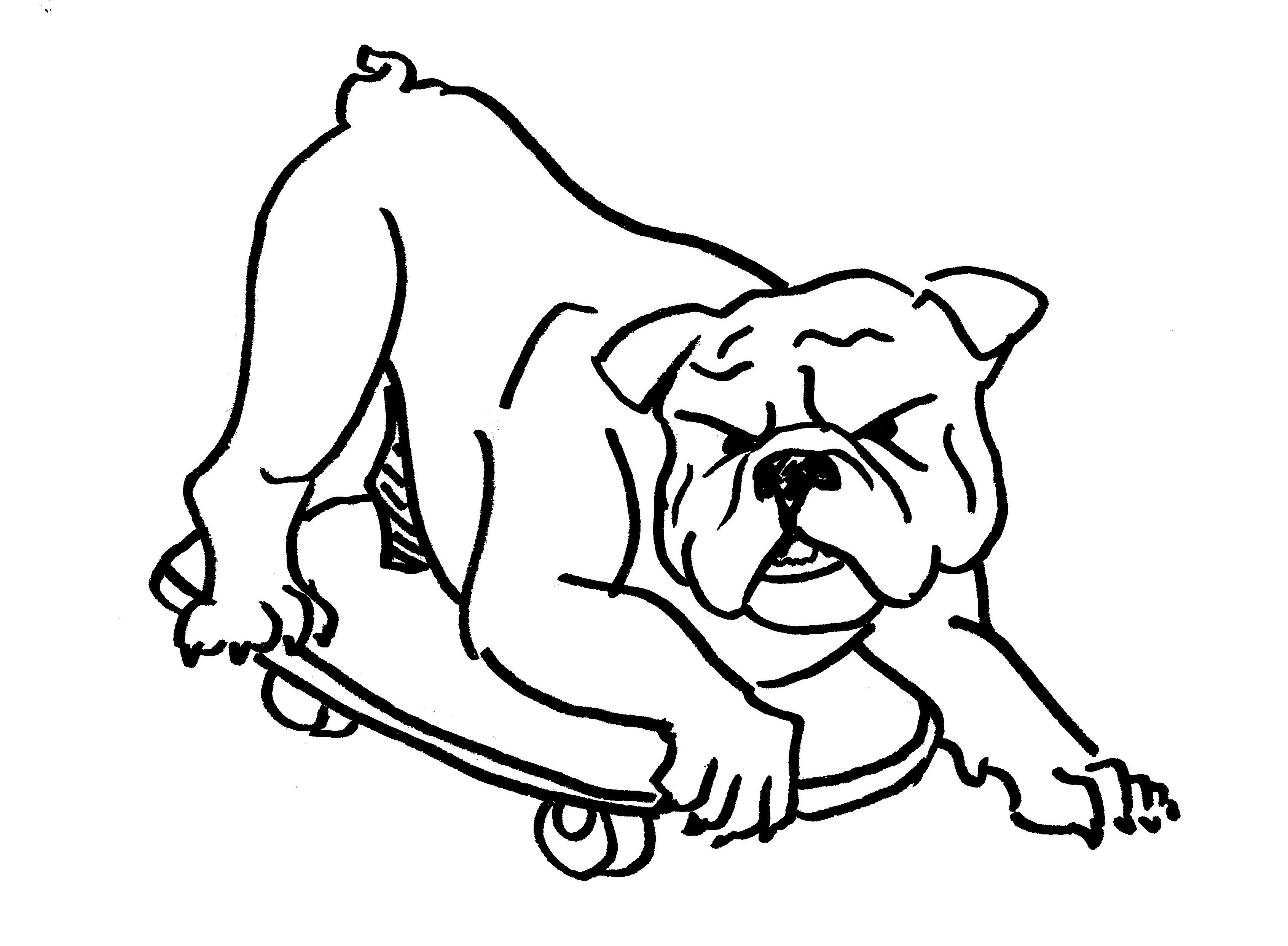 Easy Line Drawings Of Animals : Bulldog drawing easy at getdrawings.com free for personal use