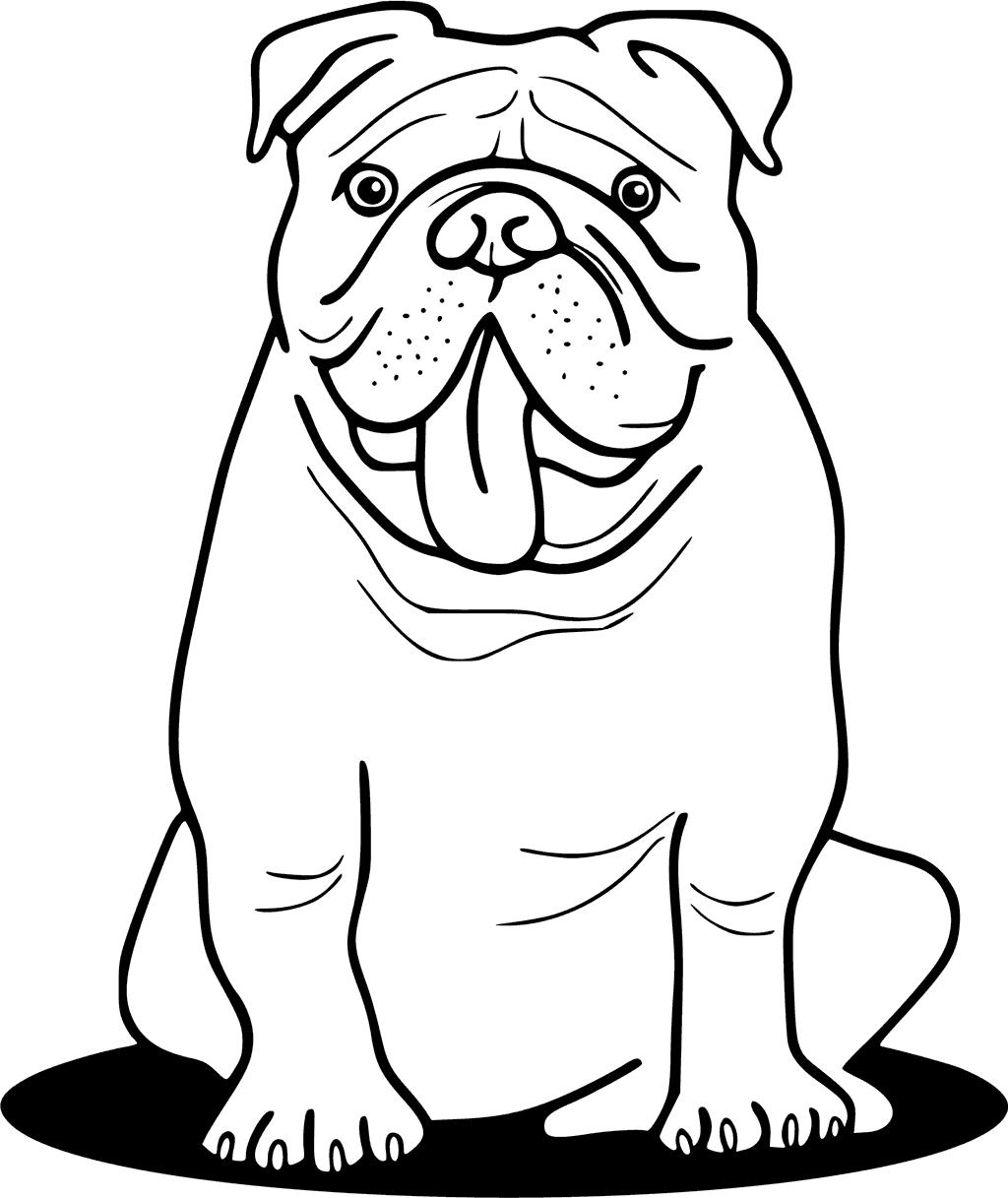 bulldog coloring pages to print | Bulldog Drawing Easy at GetDrawings.com | Free for ...