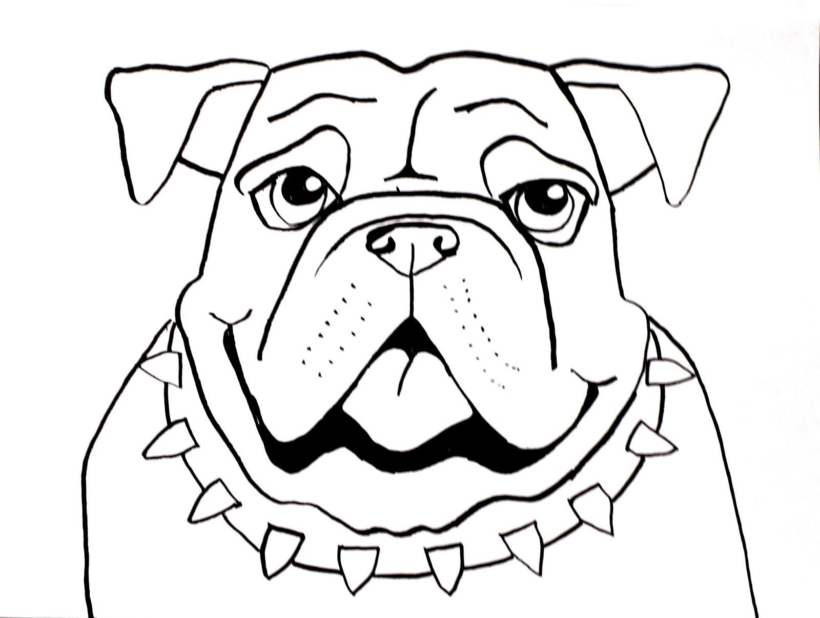1600x1206 Drawn Bulldog Awesome