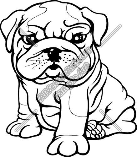 438x500 English Bulldog Clipart Drawing