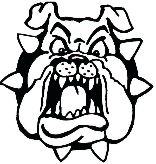 600x633 Georgia Bulldogs Coloring Pages Bulldog Drawings Mascot Car