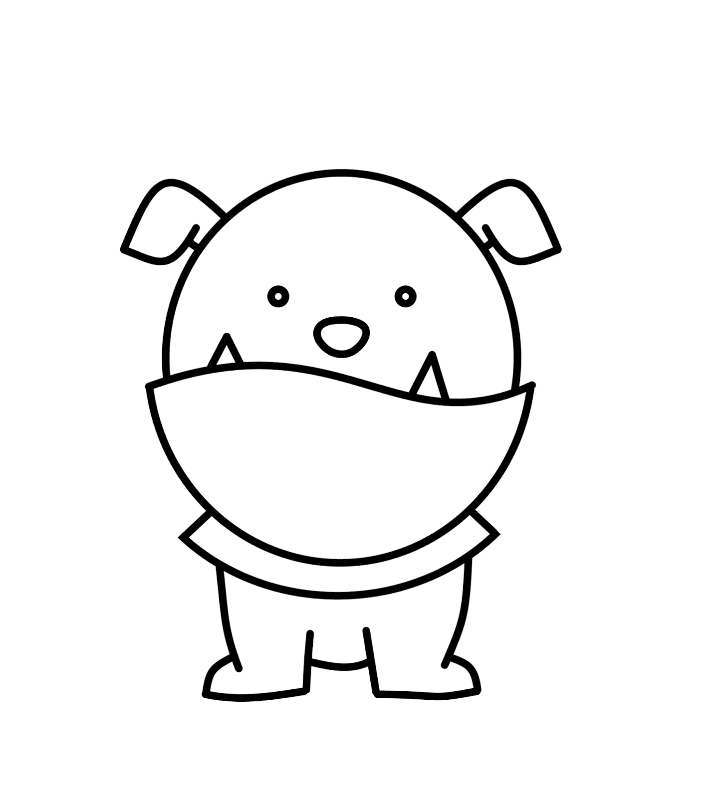 1449x1600 How To Draw Cartoons English Bulldog