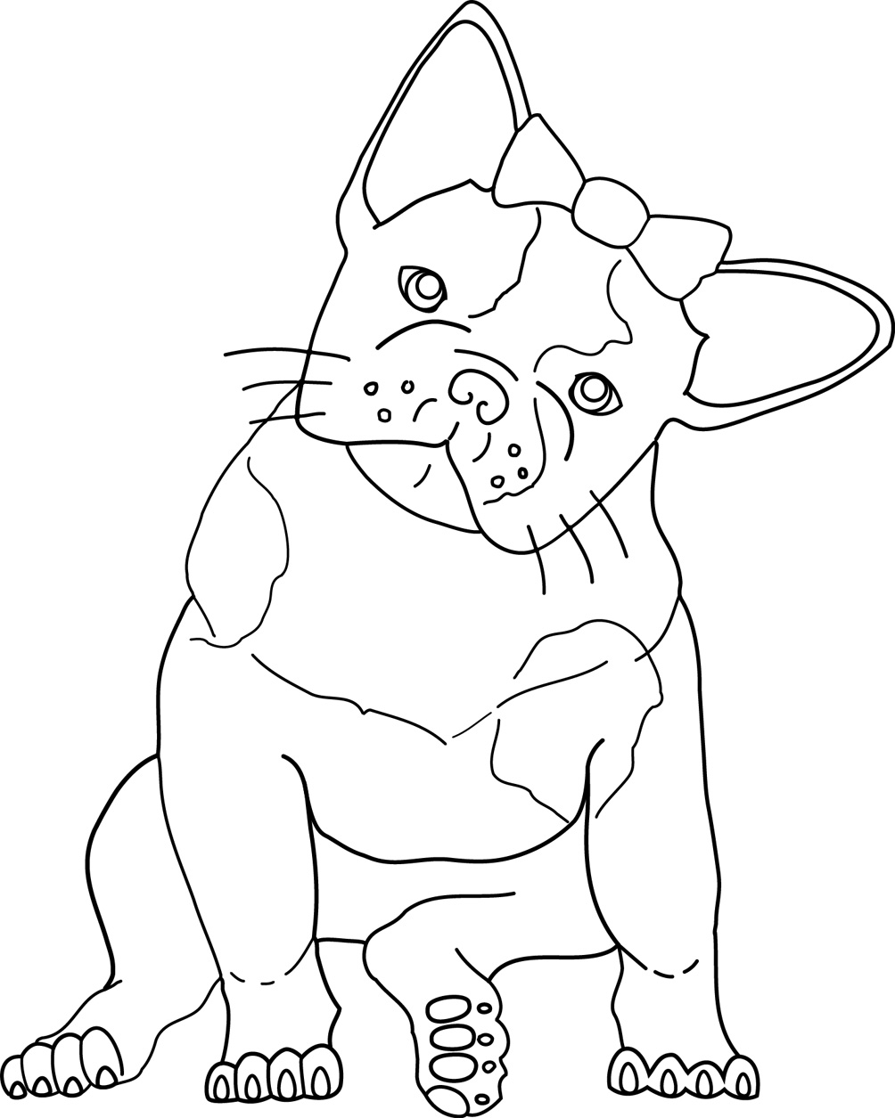 1004x1255 Draw French Bulldog Coloring Pages 18 In Line Drawings
