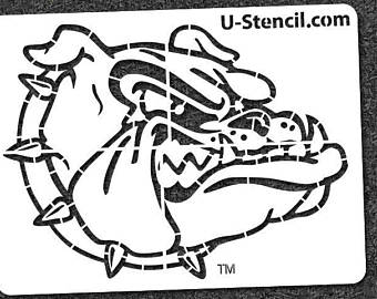 340x270 Bulldog Stencil Etsy