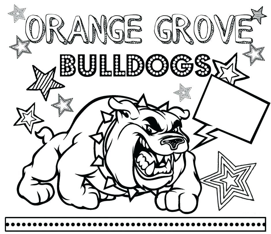 940x812 Georgia Bulldogs Coloring Pages Full Size Of Coloring Bulldog Face