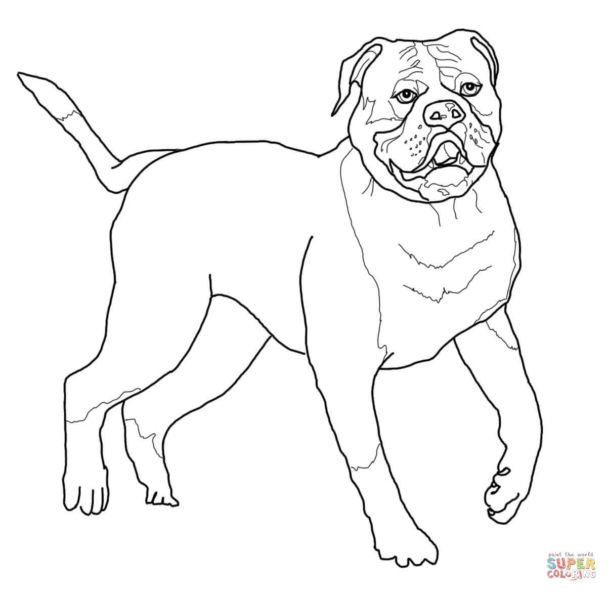 1200x1168 Bulldog Coloring Pages Printable 553319