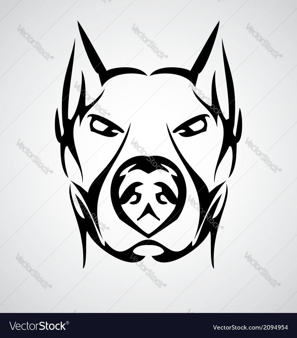 949x1080 Drawn Bulldog Tribal