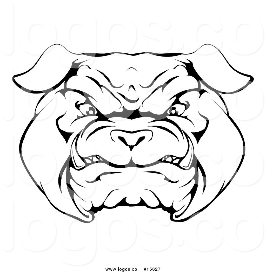 1024x1044 Royalty Free Vector Logo Of A Menacing Bulldog Face Outline