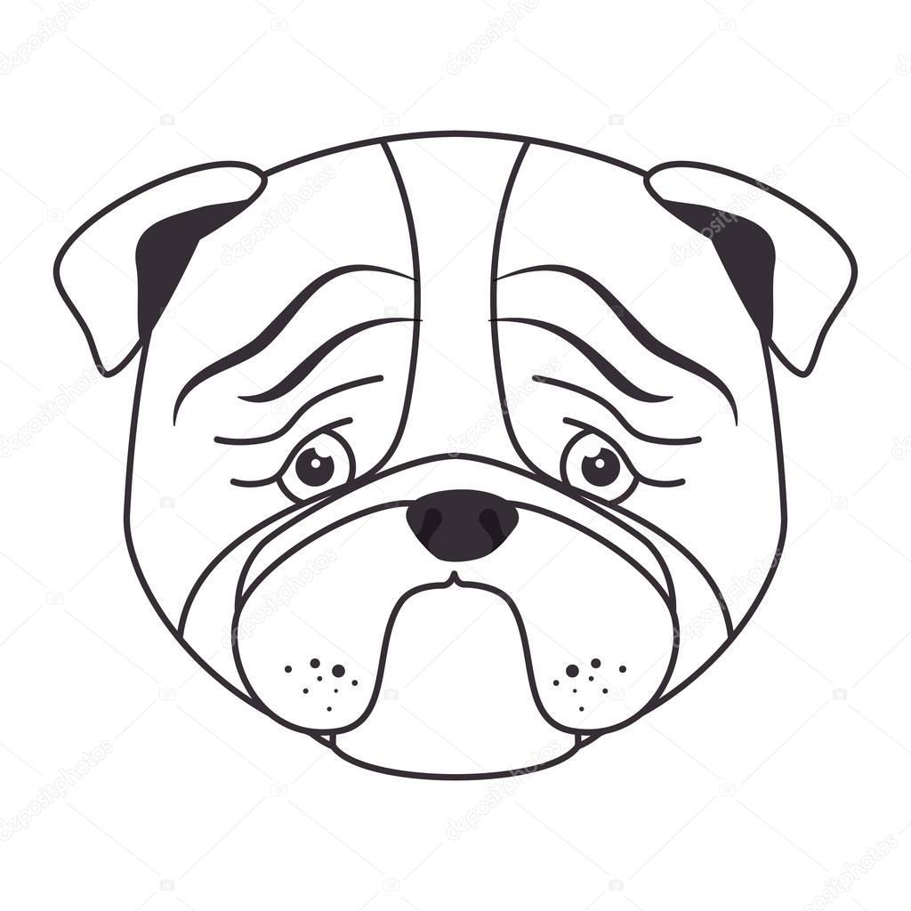1024x1024 Hand Draw Sad Face Dog Stock Vector Yupiramos